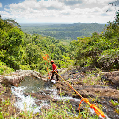 Waterfall Rappelling at Bocawina, Belize