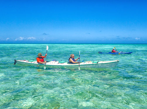Sea Kayaking On Glovers Reef, Belize