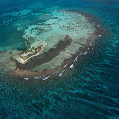 Aerial view of South Water Caye